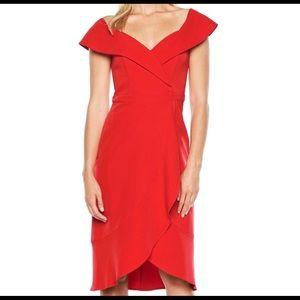 Bardot Tulip Red Dress. Size S, 6.